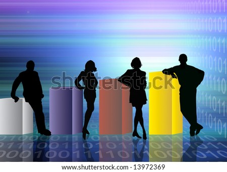 Abstract business and information technologies background - stock photo