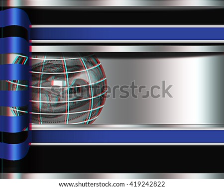 Abstract business background with sphere from dollar . 3D illustration. Anaglyph. View with red/cyan glasses to see in 3D. - stock photo