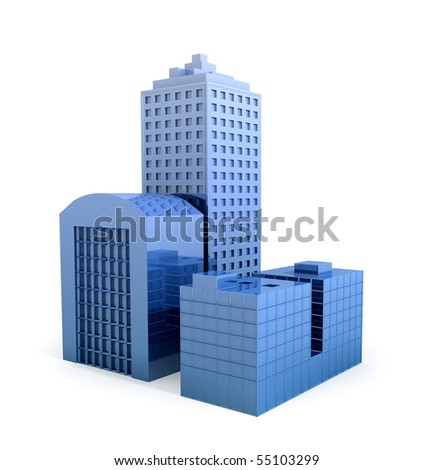 Abstract Business Buildings - stock photo