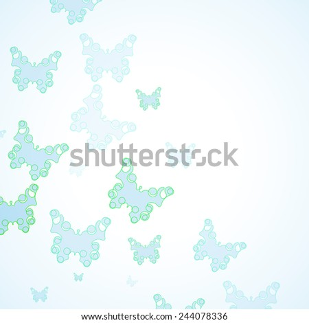 Abstract Butterfly background, futuristic art illustration