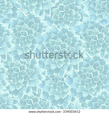 abstract cactus pattern - stock photo