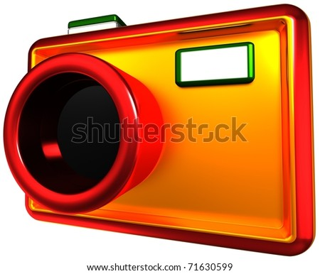abstract camera,  3d render isolated on white - stock photo