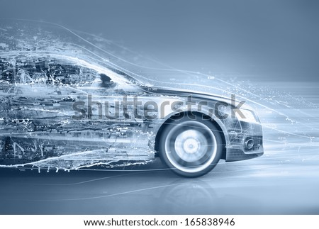 abstract car - stock photo