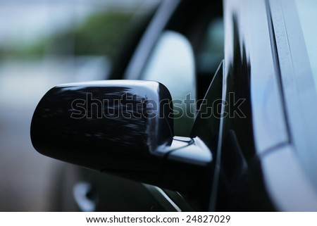 Abstract car background. Shallow DOF. - stock photo