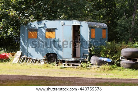 Abstract Caravan Scene England