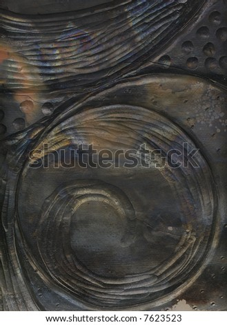 Abstract Ceramic Tile: A close-up view. - stock photo