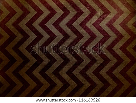 abstract chevron background zigzag pattern, zig zag stripe lines in brown red background on vintage grunge background texture canvas in old worn antique abstract background illustration for web design - stock photo