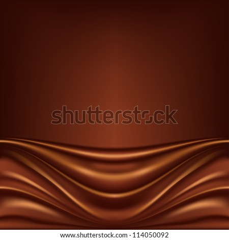 Abstract chocolate background, brown abstract satin, raster version - stock photo