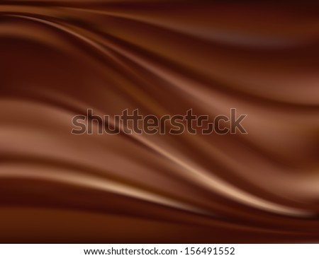 Abstract chocolate background, brown abstract satin. Raster version of vector - stock photo