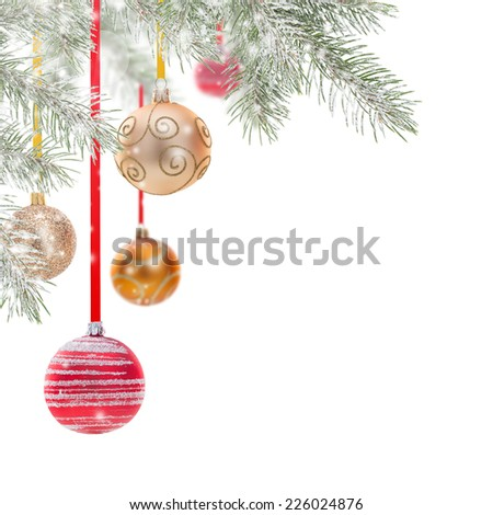 Abstract Christmas background isolated on white. - stock photo
