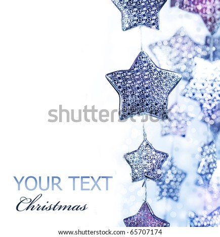 Abstract Christmas border.Holiday stars background