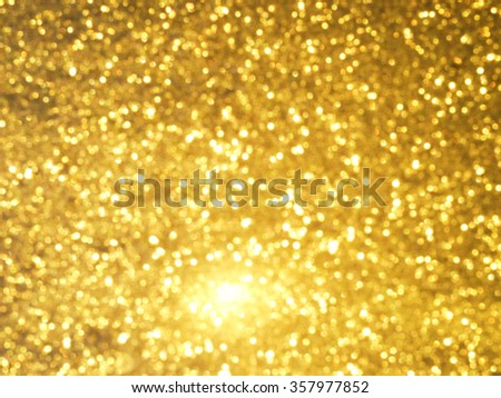 Abstract Christmas golden background - stock photo