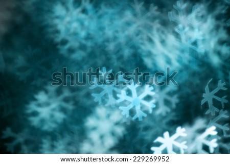 Abstract christmas snowflake on background - stock photo