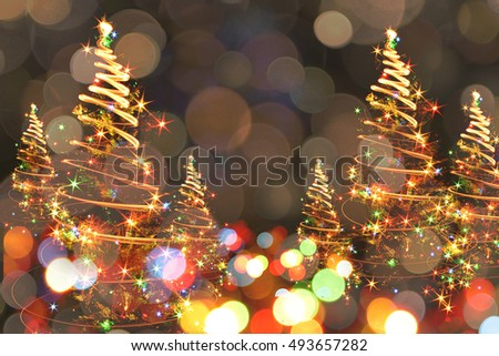 abstract christmas tree as nice holiday background