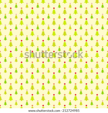 Abstract Christmas Tree Pattern Wallpaper Illustration For Funny Holiday Noel Design Green Yellow