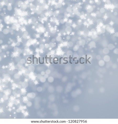 Abstract christmas winter lights on bright  background - stock photo