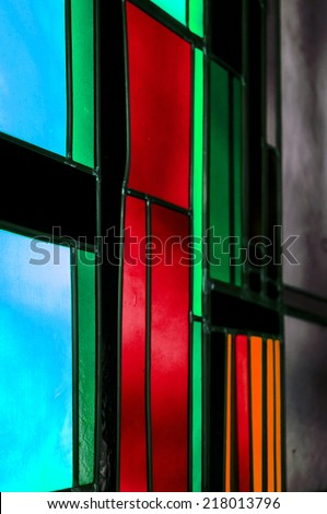 Abstract Church Window - stock photo