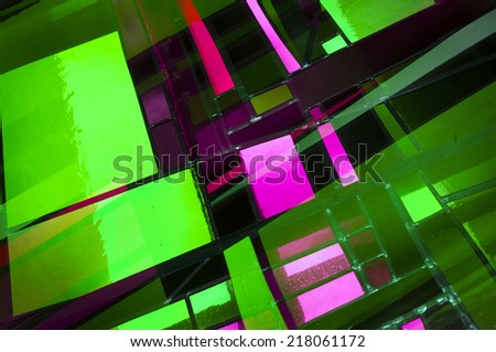 Abstract Church Window - stock photo