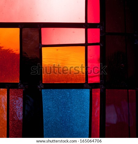 Abstract Church Windows - stock photo