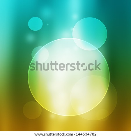 Abstract circle background - yellow and blue color