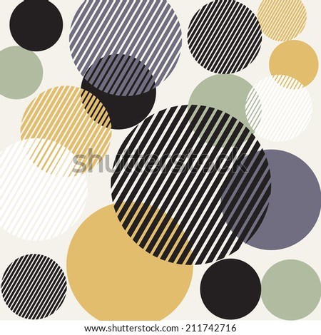 Abstract circle design background - stock photo