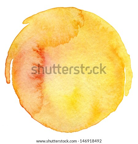Abstract  circle watercolor painted background - stock photo