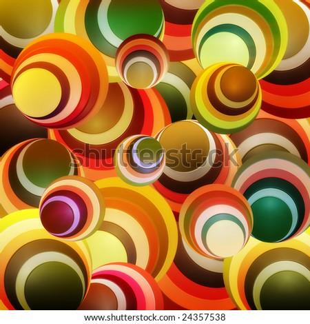 abstract circle yellow / orange - stock photo