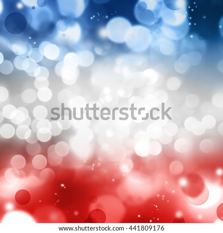 Abstract circles red white and blue background - stock photo