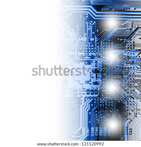 abstract circuit, background scheme - stock photo