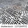 Abstract circuit inside microchip - stock photo