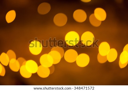 Abstract circular bokeh background of Christmas lights.