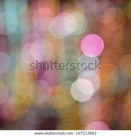 Abstract circular bokeh background of Christmasl ight - stock photo