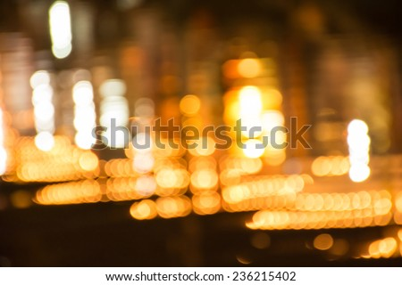 Abstract circular bokeh background reflection on surface water, bokeh background  - stock photo