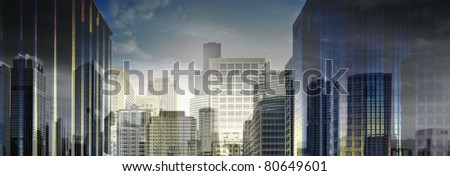 Abstract City 1 - stock photo