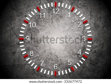 Abstract clock on grunge wall. Business background
