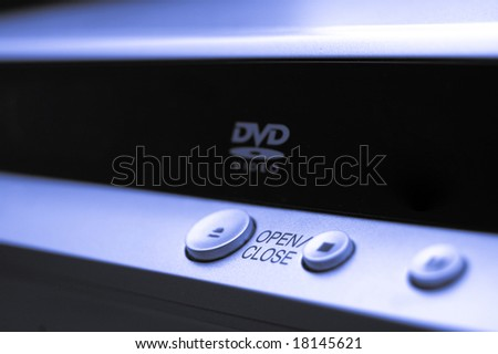 abstract close-up dvd player - stock photo