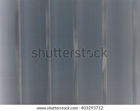 abstract close up of mosquito wire screen with  Curved steel - stock photo