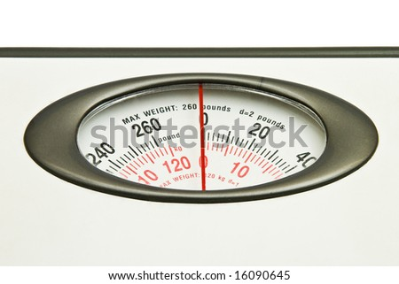 Abstract close up photo of weight scale