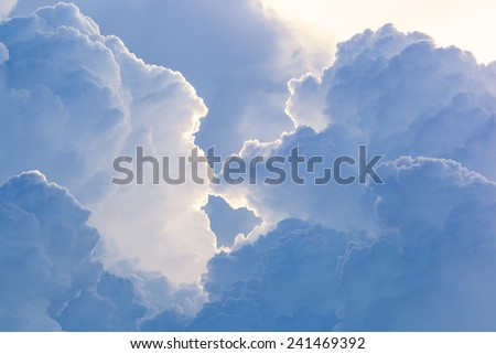 Abstract cloud sky - stock photo