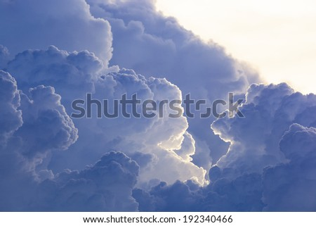 Abstract cloud sky background - stock photo