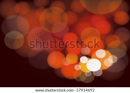 Abstract cluster of warm bright lights background - stock photo