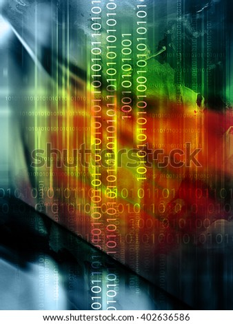 abstract code backdrop - stock photo