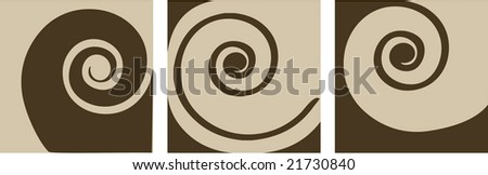 abstract coffee and milk set (vector version in portfolio) - stock photo
