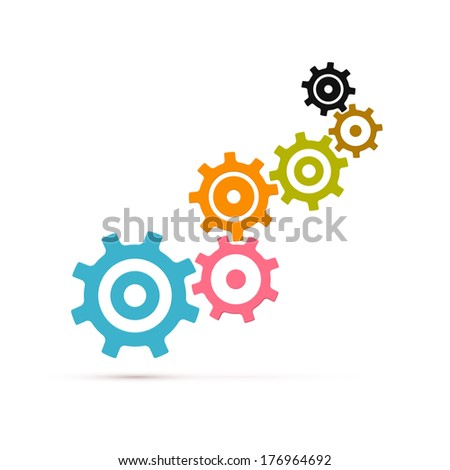 Abstract cogs - gears Isolated on White Background - stock photo
