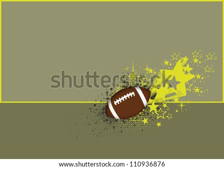 Abstract color american football background with space