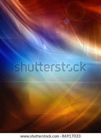 Abstract color background, futuristic composition - stock photo