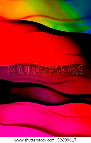 Abstract color background of backlit color glass. - stock photo