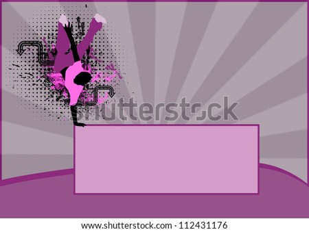 Abstract color Break Dance background with space