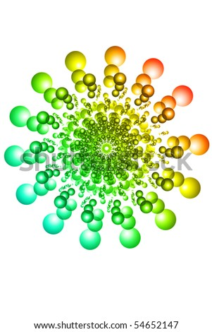 abstract color circle on white background
