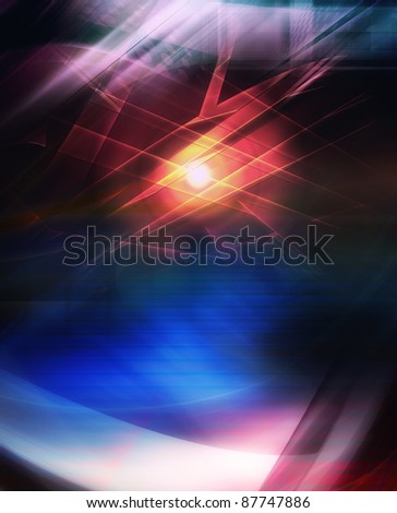 Abstract color composition, futuristic background - stock photo